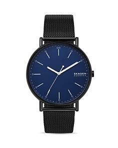Skagen - Signatur Black Mesh Bracelet Watch, 45mm