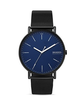 Skagen - Signatur Black Mesh Bracelet Watch, 45mm
