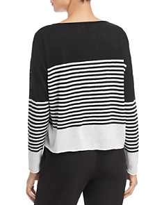 Eileen Fisher Petites - Striped Boat-Neck Sweater