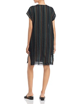Eileen Fisher Petites - Striped Cap-Sleeve Dress