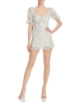 For Love & Lemons - Eclair Embellished Mini Dress