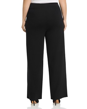 Misook Plus - High-Rise Wide-Leg Pants