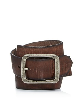 John Varvatos Star USA - Men's Crackled Leather Belt