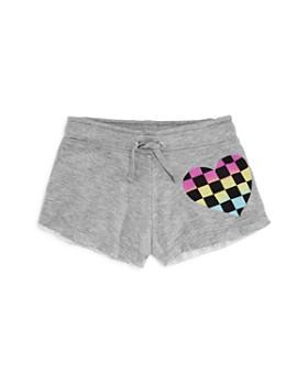 Flowers by Zoe - Girls' Pastel Check Heart Shorts - Big Kid