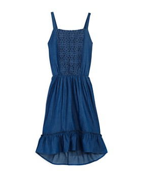 BCBGirls - Girls' Chambray Lace Dress - Little Kid