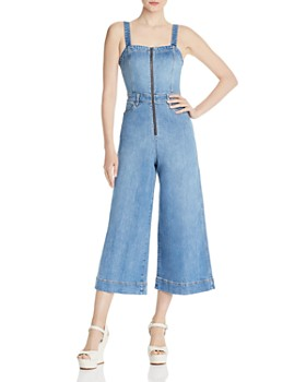 3e770ef339 Alice and Olivia - Gorgeous Cropped Wide-Leg Denim Jumpsuit ...