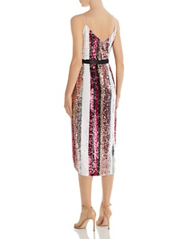 Aidan by Aidan Mattox - Sequined Wrap Dress