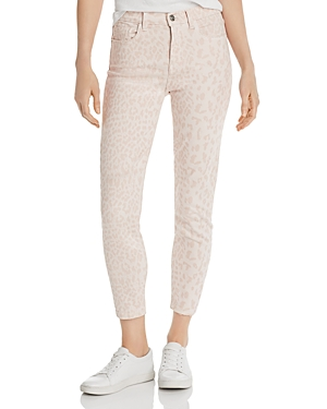 Current Elliott Jeans CURRENT/ELLIOTT THE STILETTO HIGH-RISE CROPPED SKINNY JEANS IN LEOPARD ROSE