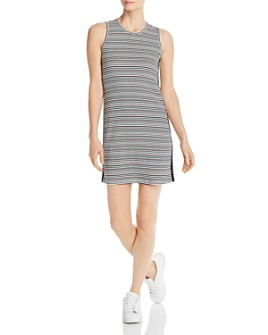 Splendid - x Gray Malin La Plage Striped Rib-Knit Tank Dress