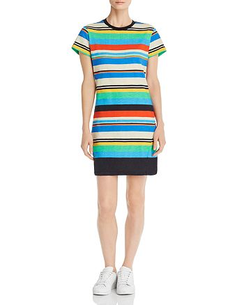 PAM & GELA - Striped T-Shirt Dress