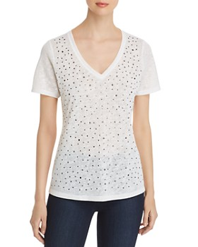 Sioni - Studded V-Neck Tee
