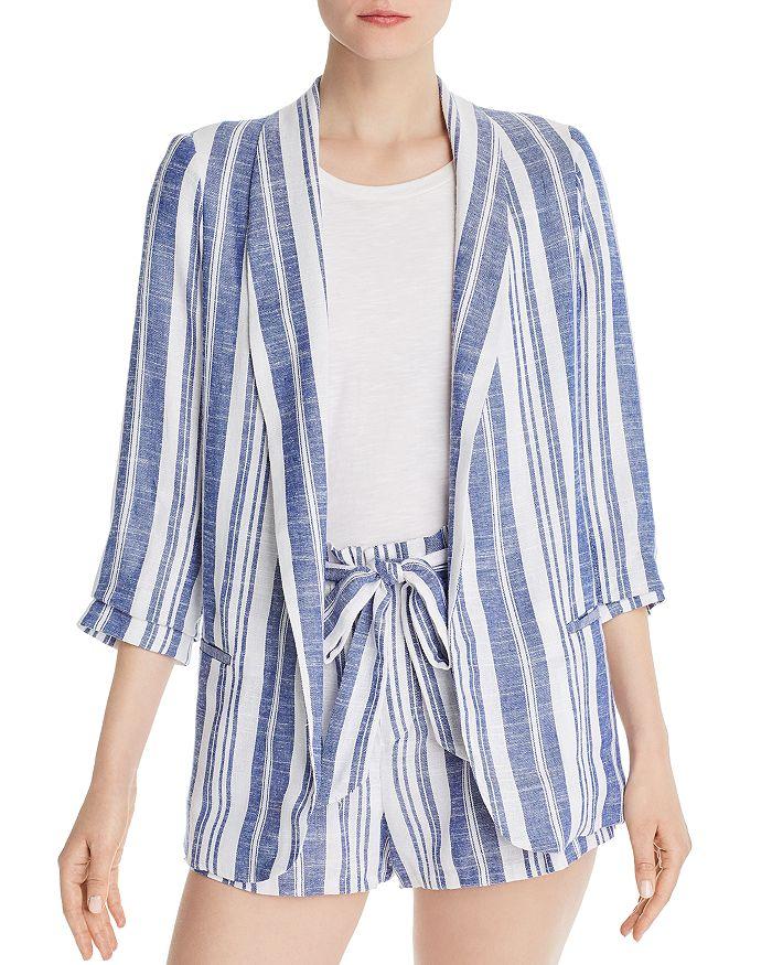 AQUA - Striped Open-Front Blazer - 100% Exclusive