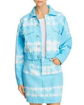 BLANKNYC - Tie-Dye Cropped Denim Jacket - 100% Exclusive