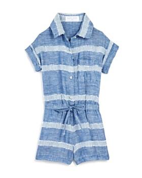 Bella Dahl - Girls' Camp Shirt Romper - Little Kid, Big Kid