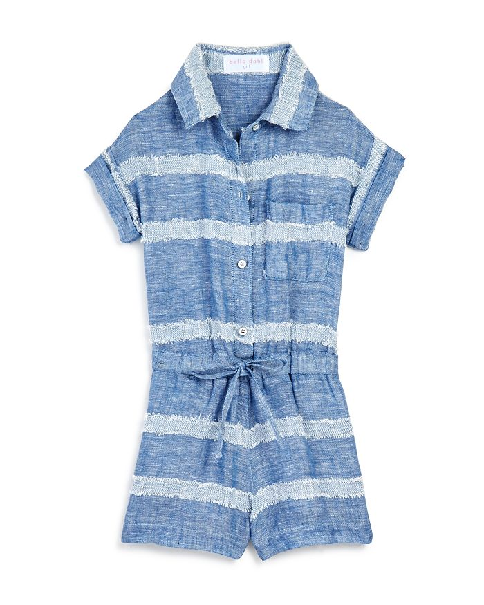 Bella Dahl - Girls' Camp Shirt Romper - Little Kid, Big Kid