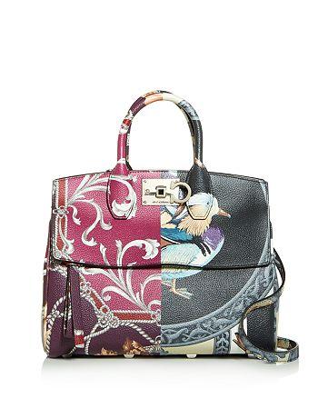 Salvatore Ferragamo - Studio Medium Scarf Leather Shoulder Bag