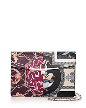 Salvatore Ferragamo - Gancini Floral-Print Leather Crossbody