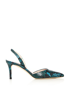 SJP by Sarah Jessica Parker - Women's Bliss Snake-Embossed Slingback Pumps - 100% Exclusive