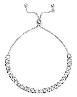 Argento Vivo - Chain Link Bolo Bracelet in Sterling Silver