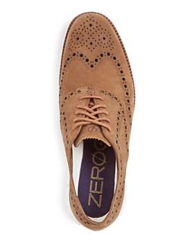 Cole Haan - Men's Zerogrand Nubuck Leather Wingtip Oxfords