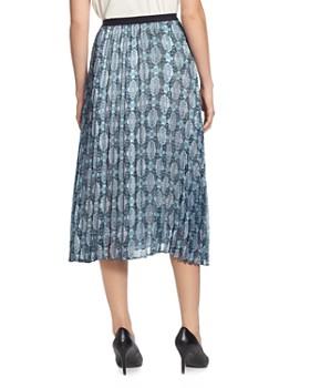 T Tahari - Printed Pleated Skirt
