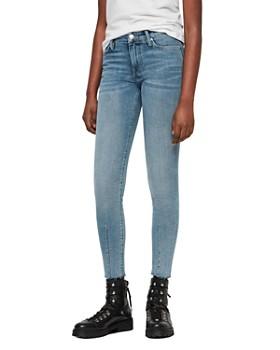 ALLSAINTS - Grace Dart Cropped Skinny Jeans in Light Indigo