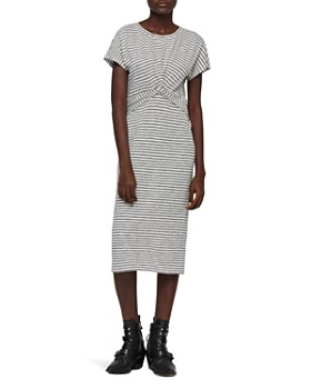 88b7ea5d239 ALLSAINTS - Paloma Twist-Front Striped Dress ...