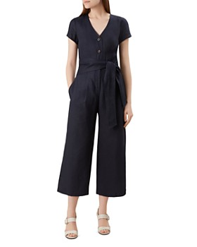 HOBBS LONDON - Jayne Tie-Waist Linen Jumpsuit