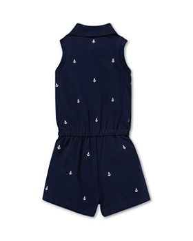 Ralph Lauren - Girls' Embroidered Pique Romper - Baby