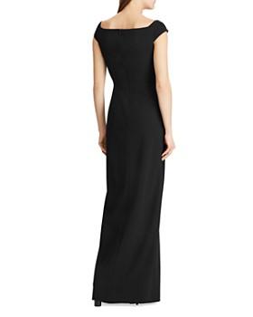 Ralph Lauren - Cap-Sleeve Crepe Gown