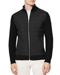 REISS - REISS Trainer Quilted-Front Jacket