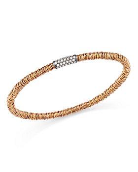 Roberto Demeglio - 18K Rose Gold Joy Stretch Bracelet with Champagne Diamonds
