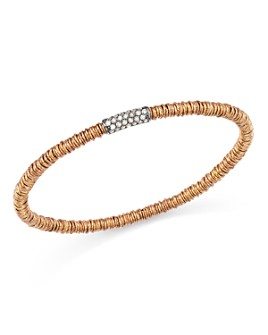 Roberto Demeglio - 18K Rose Gold Joy Stretch Bracelet with Champagne Diamonds