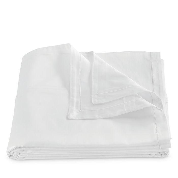 Matouk Talita Satin Stitch Duvet Cover, Full/queen In White