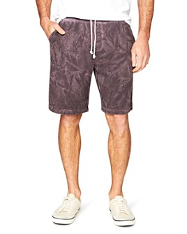 Threads 4 Thought - Isaac Marble-Wash Terry Shorts