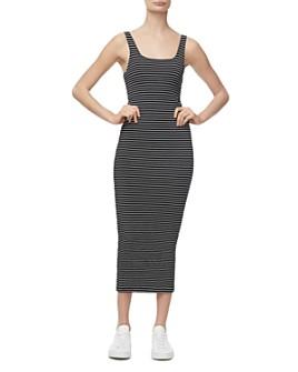 Good American - Ruched Midi Dress