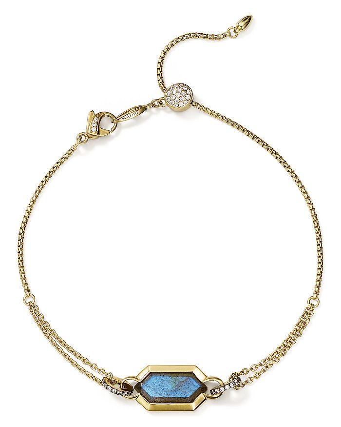 Nadri - Venice Bolo Bracelet in 18K Gold-Plated Sterling Silver