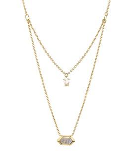 "Nadri - Venice Multi-Row Pendant Necklace in 18K Gold-Plated Sterling Silver, 16""-18"""