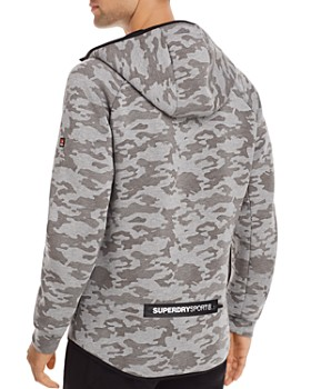 Superdry - Gym Tech Camouflage-Print Zip-Front Jacket