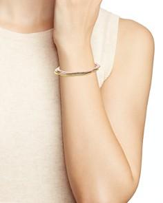 kate spade new york - Pavé Scalloped Thin Bangle Bracelets, Set of 3