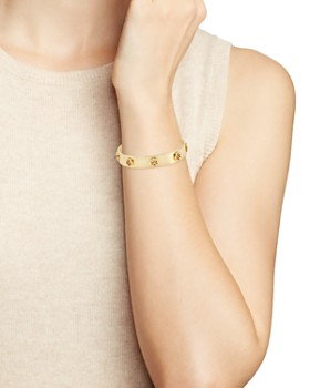 Tory Burch - Logo Studded Cuff Bracelet