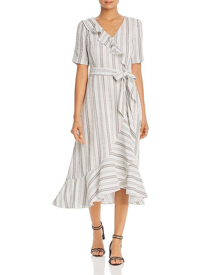 b5799ad7c9b Striped Faux-Wrap Dress