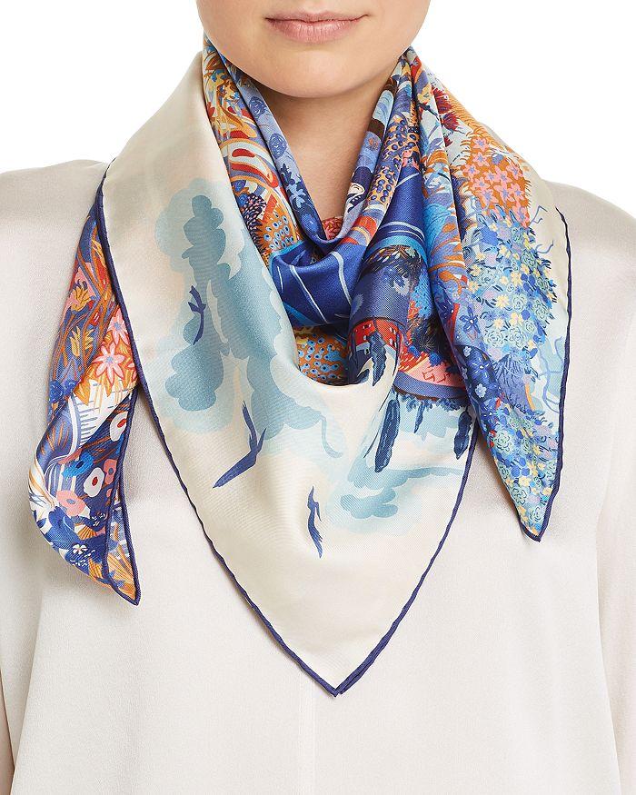 Salvatore Ferragamo - Flower Market Silk Scarf