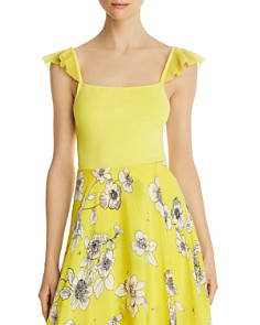 Alice and Olivia - Marg Ruffle-Strap Cropped Top