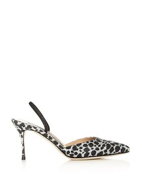 Sergio Rossi - Women's Godiva Glitter Leopard Print Slingback Pumps - 100% Exclusive