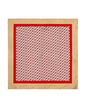 Burberry - Monogram Print Silk Scarf