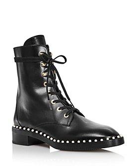 Stuart Weitzman - Women's Sondra Faux Pearl Combat Boots