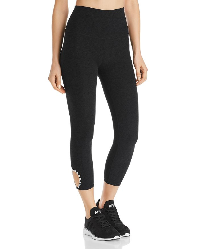 Beyond Yoga - High-Rise Cutout Space-Dye Leggings