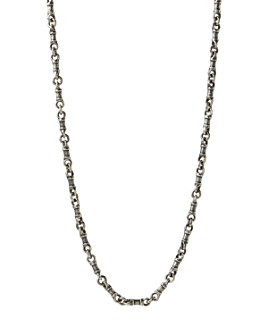 """John Varvatos Collection - Sterling Silver Artisan Metals Chain Link Necklace, 24"""""""