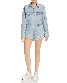 alexanderwang.t - Denim Romper in Bleach